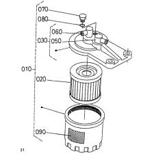 Комплект фильтров Kubota D1100