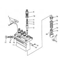 Насос топливный высокого давления Kubota V3300