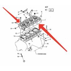 Головка блока цилиндров Kubota V3800