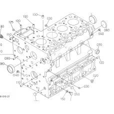 Блок цилиндров Kubota V3800